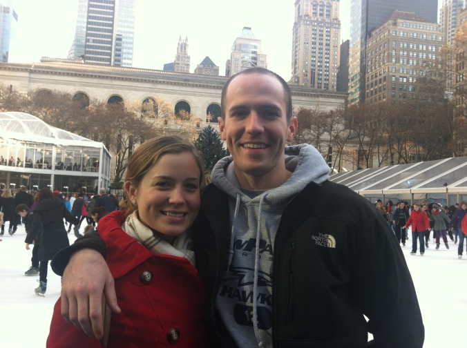 My sister and her boyfriend came to visit last weekend and we took in the scenery at Bryant Park. I love it there during the holidays.