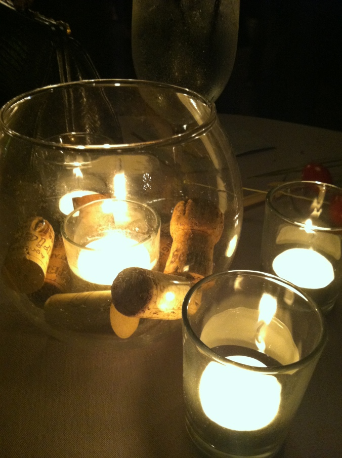 Little details like the white tea lights and wine corks really brought the night to life.