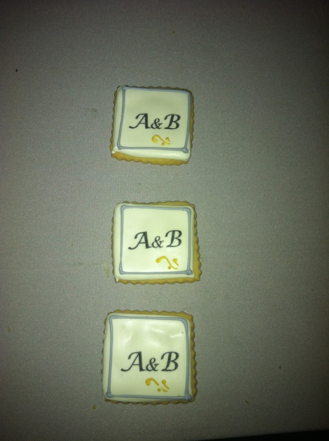 Cute little A & B cookies for Allison and Boris.