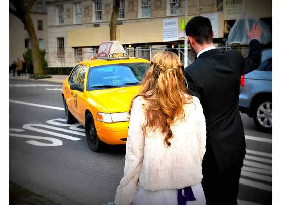 ^^We didn't actually take a cab on our wedding day, but this lovely driver was kind enough to oblige us for a photo.
