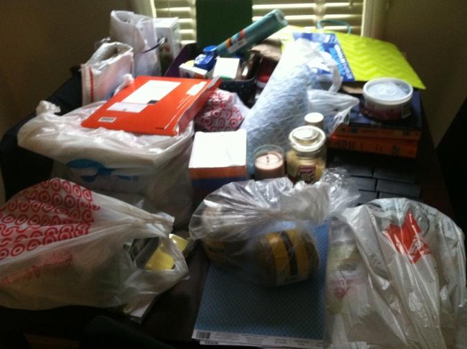 ^^Craft supplies galore await me!
