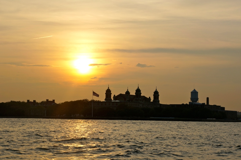 ^^ Ellis Island in the setting sun. Gorgeous.