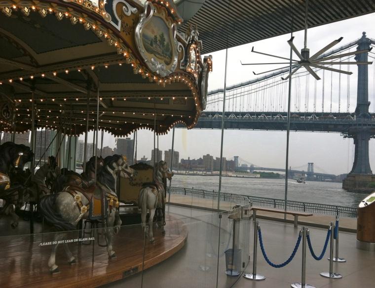 ^^The carousel at the Brooklyn Bridge Park.