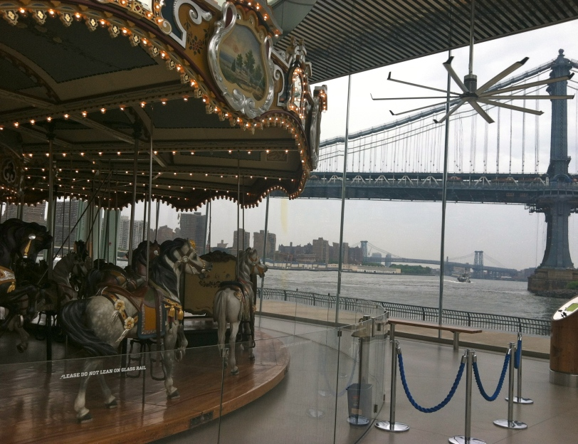 ^^The carousel at the Brooklyn Bridge Park.