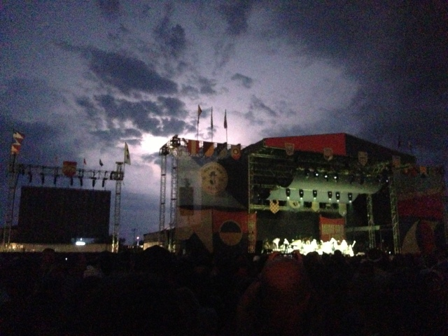 ^^This last photo was actually from Saturday night's show when Mumford was playing and it was lightning in the background. But we'll get to that ...