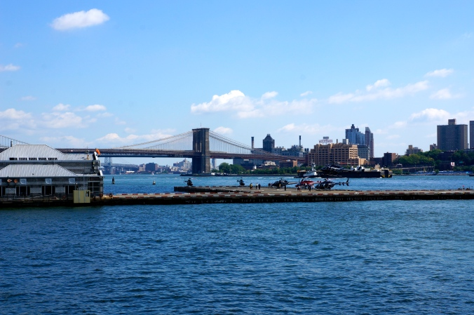 ^^ Helicopter tours were taking off while we waited for the boat to take us to Governors Island.