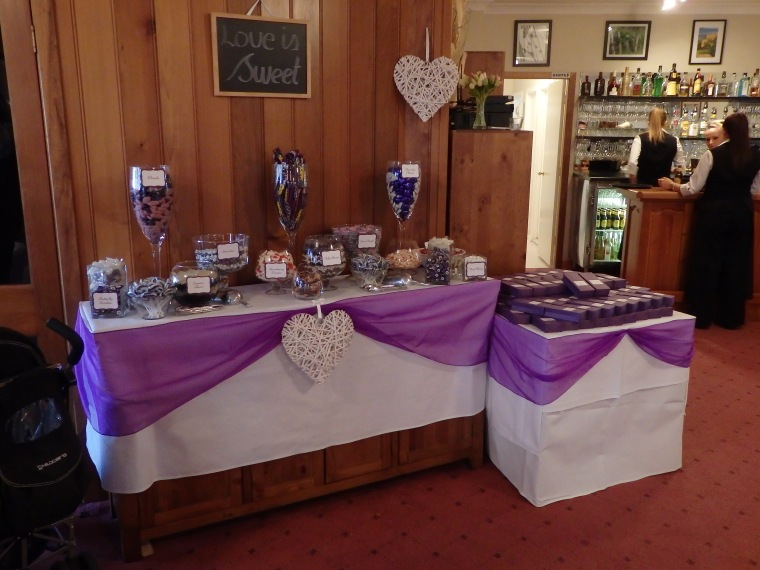 ^^ How cute was this sweets bar Algona set up as our parting gift for our guests? Love it!