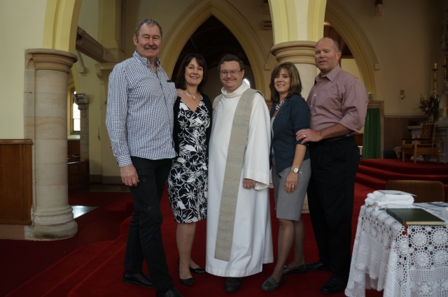 ^^ My parents and Chris's parents with the priest who renewed our vows.