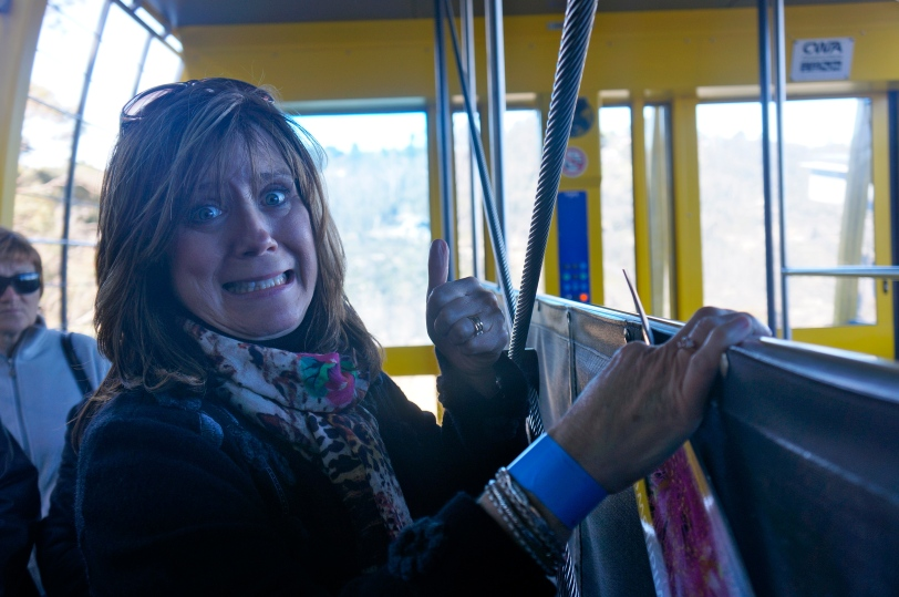 ^^ Someone didn't love the skyway car. In her defense, it was particularly windy that day!