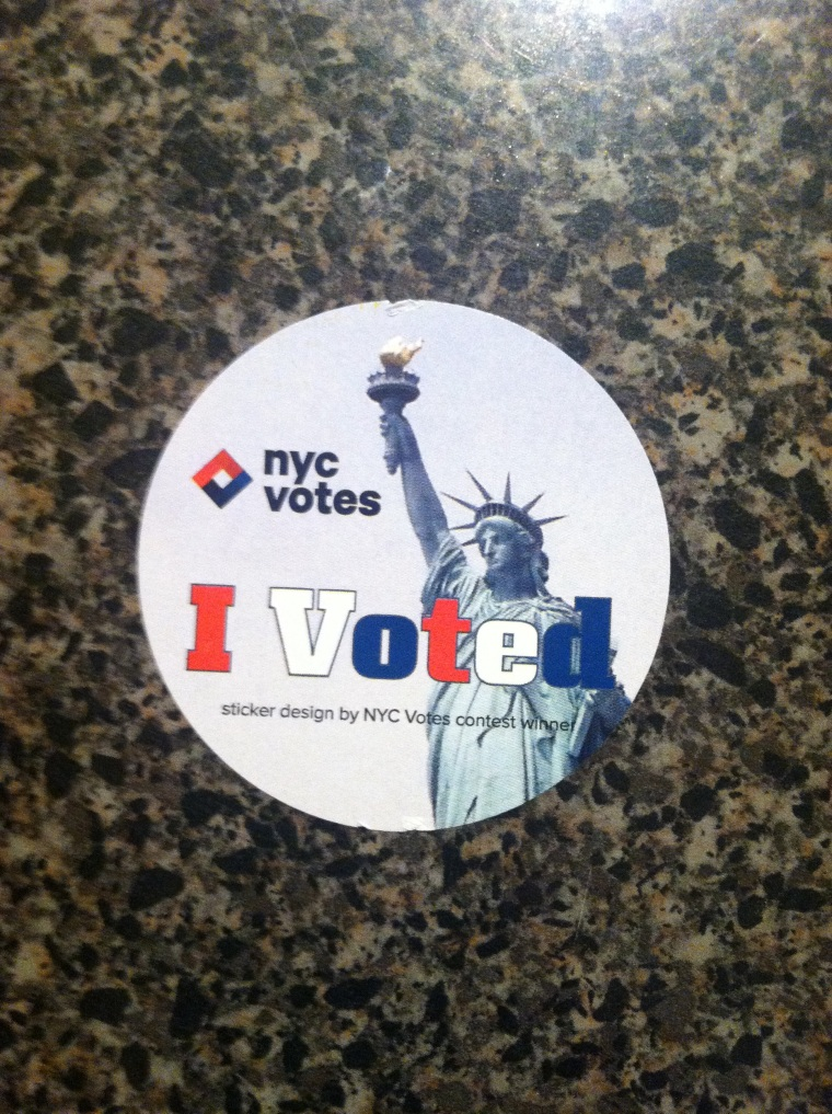 ^^ I voted for a new NYC mayor today.