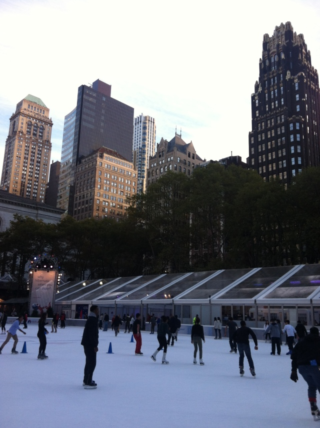 ^^ Ahhh, my favorite time of year at Bryant Park -- and in the city, for that matter -- has arrived! You will find me at the skating rink in my very own ice skates very soon, my friends!
