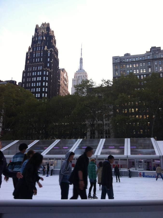 ^^ Not a bad backdrop for ice skating, if you ask me.