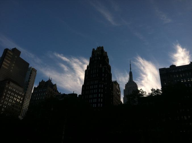 ^^ Beautiful blue NYC skies.