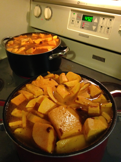^^ Pumpkin soup beginnings ...